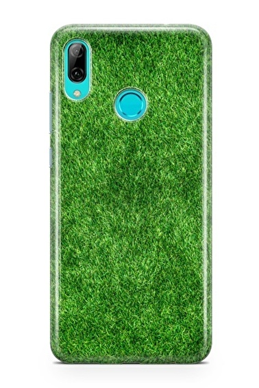 Lopard P Smart 2019 Kılıf Silikon Arka Kapak Koruyucu Yeşil Çim Desenli Full HD Baskılı Renkli